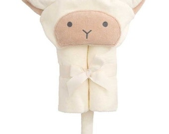 Personalized Baby Towel Hooded- FREE Gift Wrap Lamb, Bunny, Duck