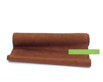 """SALE! Brown Suede Table Runner -  14"""" x 108"""" - Bohemian Table Decoration"""