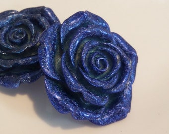 42mm Dark Blue Flower Beads for Chunky bead  Necklace, J16