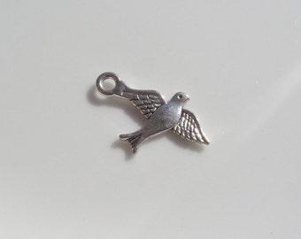 22mm*14mm, Antique Silver Flying Bird Charm, 25CT. Y5