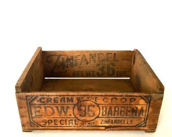 Wood and metal crate - rustic