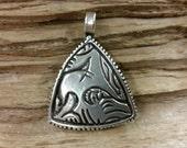 Pure Silver Anglo-Saxon  Beast Pendant, 9th Century AD