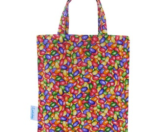 Kids Party Bags, Fabric Gift Bags, Favor Bag, Party Supplies - Jelly Bean