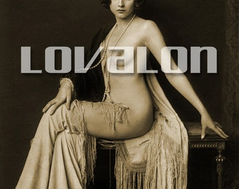 MATURE... Glamour Goddess... Deluxe Erotic Art Print... 1920's Vintage Lingerie Fashion Photo... Available In Various Sizes