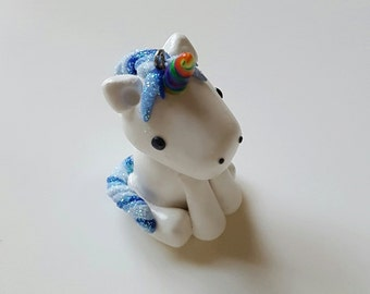 Unicorn Polymer Clay Charm Pendant