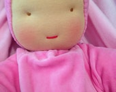 Waldorf Heavy Baby doll largest size- Reserved for Tiffany in Purple
