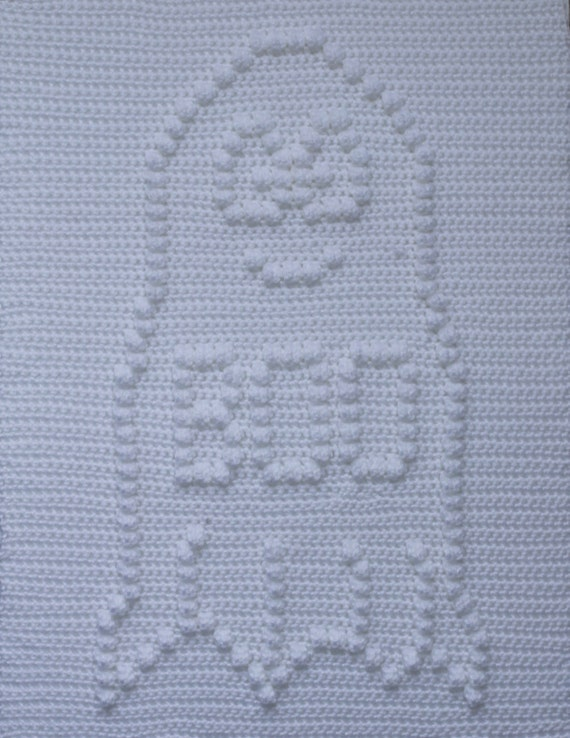 Boo the Happy Little Ghost Baby Blanket  Pattern  - Baby Snuggle Blanket - Carseat or Stroller Blanket