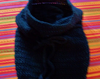 Women's Convertible Crochet Cowl  / Black Hooded Cowl/ Winter Hood / Winter Cowl / Winter Wardrobe