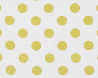 Glitz White Gold Dot Crib Sheet - Ready to Ship