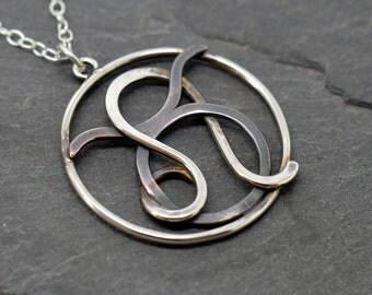 Taurus leo combined zodiac necklace