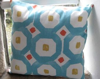 "Teal Geometric Cushion Cover  40cm (16"")"