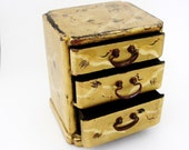 Japanese gold lacquer miniature chest of drawers