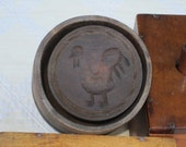 Rooster Wooden Butter Mold