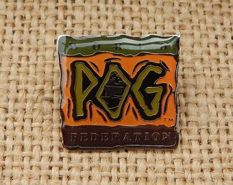 World Pog Federation Pin  ~  1994 World Pog Federation Pin  ~  NOS Pog Pin
