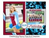 CHEERLEADING MM6 - 8x10 Memory Mate Sports Photo Template - Digital File