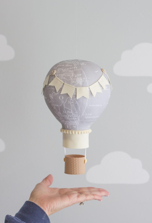 travel nursery decor hot air balloon nursery mobile baby. Black Bedroom Furniture Sets. Home Design Ideas
