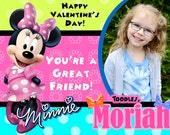 Minnie Mouse Valentine's day card Minnie Mouse Valentine Minnie Valentine Minnie Valentine's day card girl valentine kids valentine photo