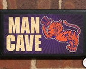 "Clemson University Tigers ""Clemson Man"" Man Cave Classic Vintage Style Plaque Sign Wall Home Decor Art Gift Official Licensed Product CLEM15"