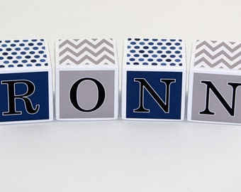 Baby Name Blocks - Baby Shower Gift - Photo Prop - Nursery Decor - Personalized