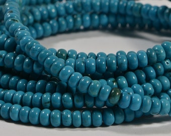 Turquoise Half Strand Beads 4.1x2.4 mm Natural Gemstone Beads Jewelry Making Supplies