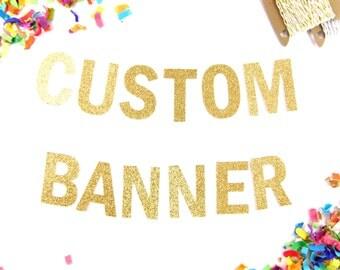 """5"""" Custom Glitter Banner - Design Your Own Banner"""