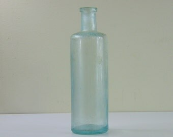 Antique Genuine Atwood Bitters Blue Glass Bottle, Round, Not 12 Sided