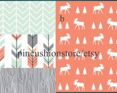 Baby Bedding Crib Nursery Sheets Woodland Deer with options