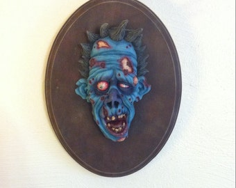 Zombie Wall Hanging Sculpture