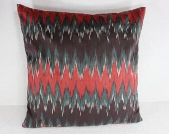 Cotton Ikat Pillow, Ikat Pillow Cover,  C130, Ikat throw pillows, Designer pillows, Decorative pillows, Accent pillows