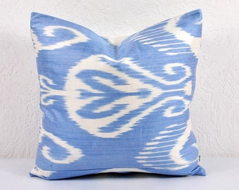 Ikat Pillow, Hand Woven Ikat Pillow Cover npi215-20, Ikat throw pillows, Designer pillows, Decorative pillows, Accent pillows
