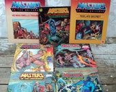 Master of the Universe book lot, 7 books, 1980's, kids books, children's book, hard and soft cover, He-man, He man