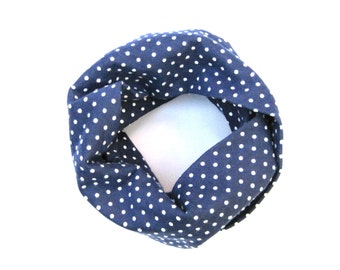 Polka Dot Scarf, Blue Scarf, Toddler Scarf, Baby Bib Scarf, Girl Scarf, Toddler Gift, Children Clothing, Under 20 Dollars, Ready To Ship