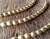 30 Pcs  Brass Beads - Oval - Eclipse - Rice shape -Brass Spacer- (4x5 mm)