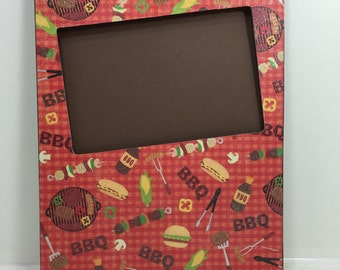BBQ Picture Frame-BBQ Frame-Barbeque Picture Frame-Barbeque Frame-Summer Fun Picture Frame-Summer Frame