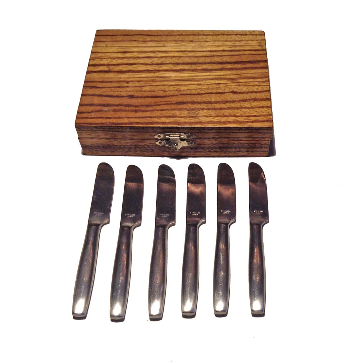boxed set of canape knives s 6 japan
