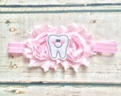Tooth Fairy Gift. First Tooth Gift. Dentist Baby Gift. Dental Hygienist Baby Gift. First Tooth Headband. Cute Baby Gift for Dentist.