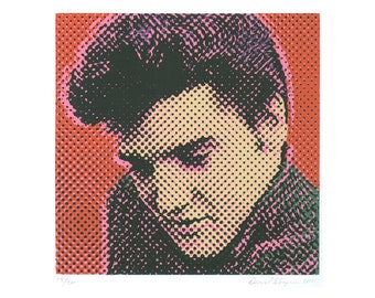 Elvis Portrait silkscreen print