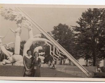 1939 New York Worlds Fair Vintage Photo Paper Ephemera Modern Sculpture Black And White Art Photograph