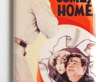 Babe Ruth Comes Home Movie Poster Fridge Magnet (1.5 x 4.5 inches)