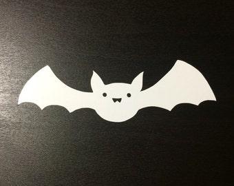 Cute Bat Decal   Sticker   Vinyl   for Halloween, Wall, Car, Window, or Laptop Decoration   Spooky!