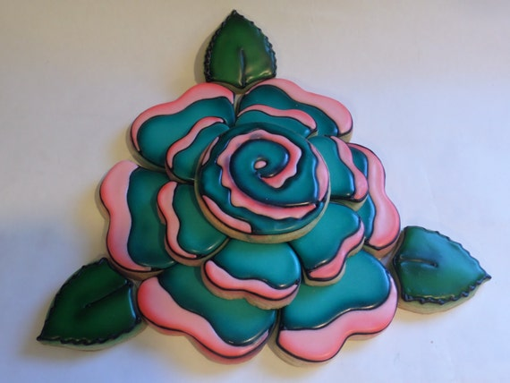 Rose Cookie Platter