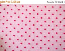 ON SALE Hot Pink Polka Dot Tulle. Polka Dotted Tulle Pink. 1/2 Yard.