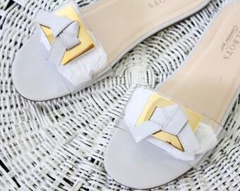 slip on sandals / 8