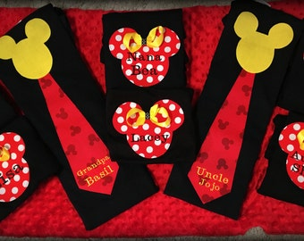 Best Price and Quality! Ships Fast! Red Dot Family Disney Shirt Mom Dad Mickey Tie Shirt Disney World Disneyland Cruise Wonder Magic Sewn