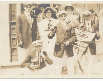 Party Time Fraternity 1920s social realism found photo vernacular photography vintage old photograph