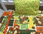 """Silly Monkeys 18"""" Blanket with Pillow"""