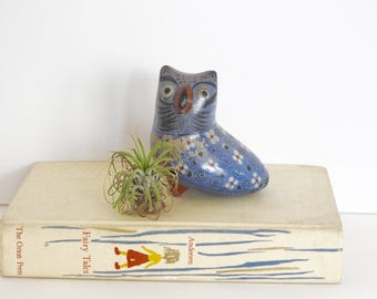 Mexican Pottery Owl Figurine