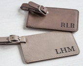 Personalized Luggage Tags: Custom Luggage Tag, Wedding Luggage Tag, Monogram Luggage Tag, Groomsmen luggage tags, SHIPS FAST