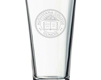12 Custom Etched Pint Glasses with Logo or Artwork: Promotional Pint Glasses, Etched Pint Glasses, Engraved Pint Glasses