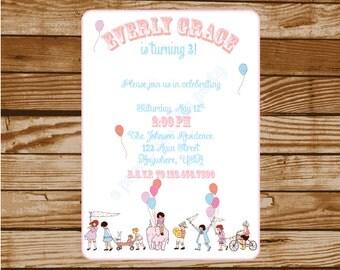 My Little Parade Sweet Honey Inspired Birthday Party Invitation #2